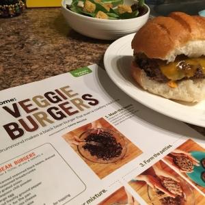 The Amateur Librarian // Black Bean Veggie Burgers