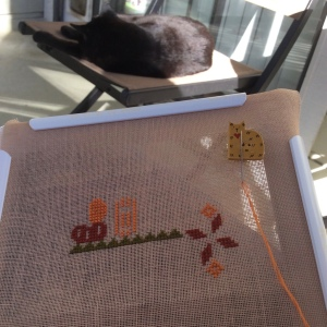 The Amateur Librarian // A Little Boo Cross Stitch