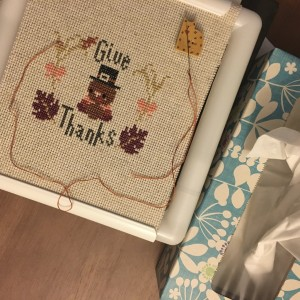 The Amateur Librarian // Give Thanks Cross Stitch