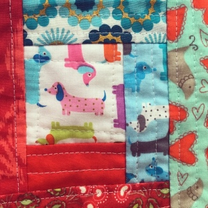 The Amateur Librarian // QAYG Log Cabin Mini Quilt