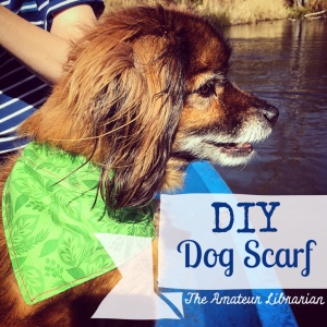 The Amateur Librarian // DIY Over the Collar Dog Scarf