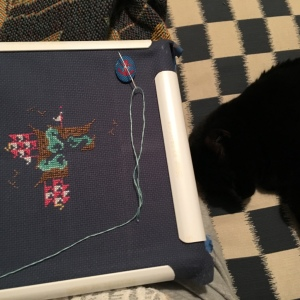 The Amateur Librarian // Sail Around Cross Stitch