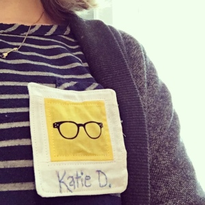 The Amateur Librarian // Polaroid Name Tag