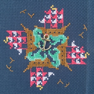The Amateur Librarian // Sail Around Cross Stitch