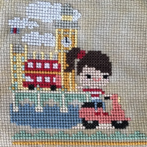 The Amateur Librarian // The Pumpkin Passport Cross Stitch