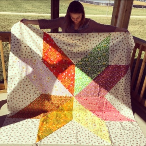 The Amateur Librarian // Vintage Star Quilt