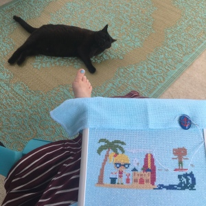 The Amateur Librarian // Summer Beach Day Cross Stitch