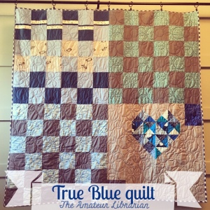 The Amateur Librarian // True Blue Quilt