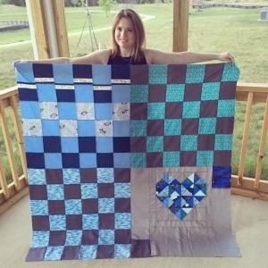 The Amateur Librarian // True Blue Quilt