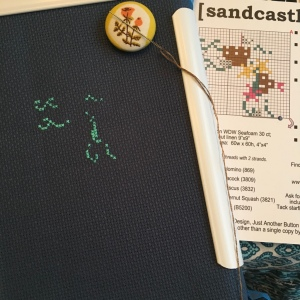 The Amateur Librarian // Sandcastle Cross Stitch