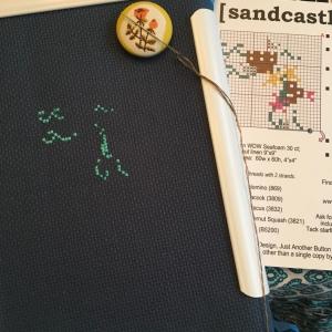 The Amateur Librarian // Sandcastle Cross Stitch