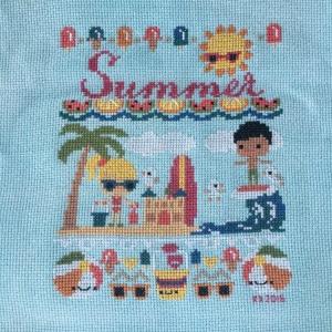 The Amateur Librarian // Summer Beach Day Cross Stitch