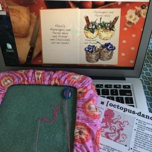 The Amateur Librarian // Octopus Dance Cross Stitch