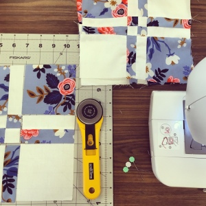 The Amateur Librarian // Square Dance Baby Quilt