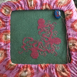 The Amateur Librarian // Octopus Dance Cross Stitch