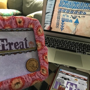 The Amateur Librarian // Trick or Treat Costume Club Cross Stitch