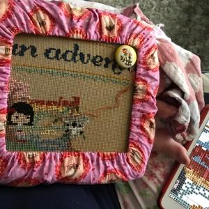 The Amateur Librarian // Pumpkin Passport Cross Stitch