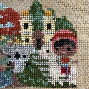 The Amateur Librarian // Pumpkin Passport Cross Stitch