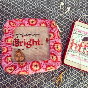 The Amateur Librarian // Merry and Bright Cross Stitch