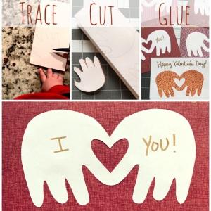 The Amateur Librarian // No-Mess Handprint Valentines