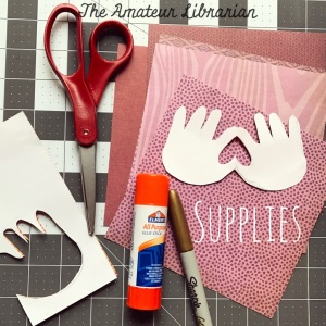 The Amateur Librarian // No-Mess Handprint Valentines