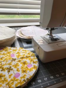 The Amateur Librarian // QAYG Cathedral Windows Quilt
