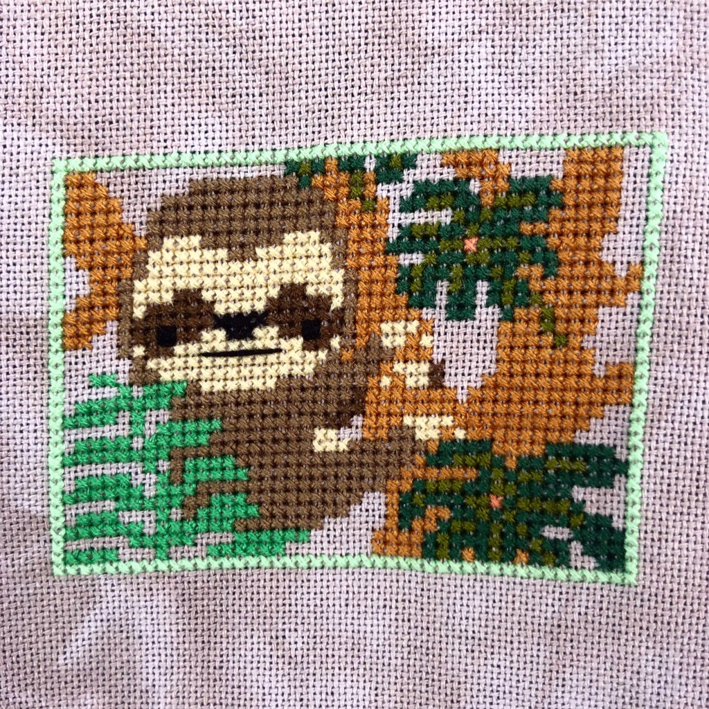 Into the Jungle Cross Stitch: January 2018