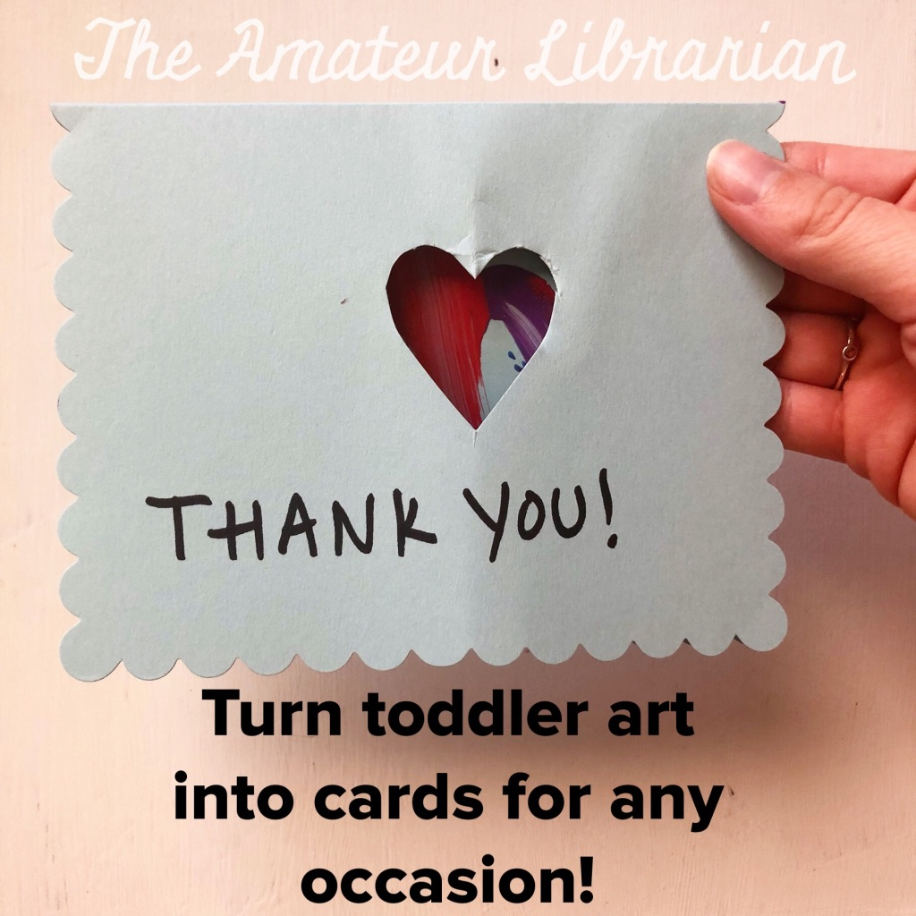 Turn Toddler Art into Thank You Cards!