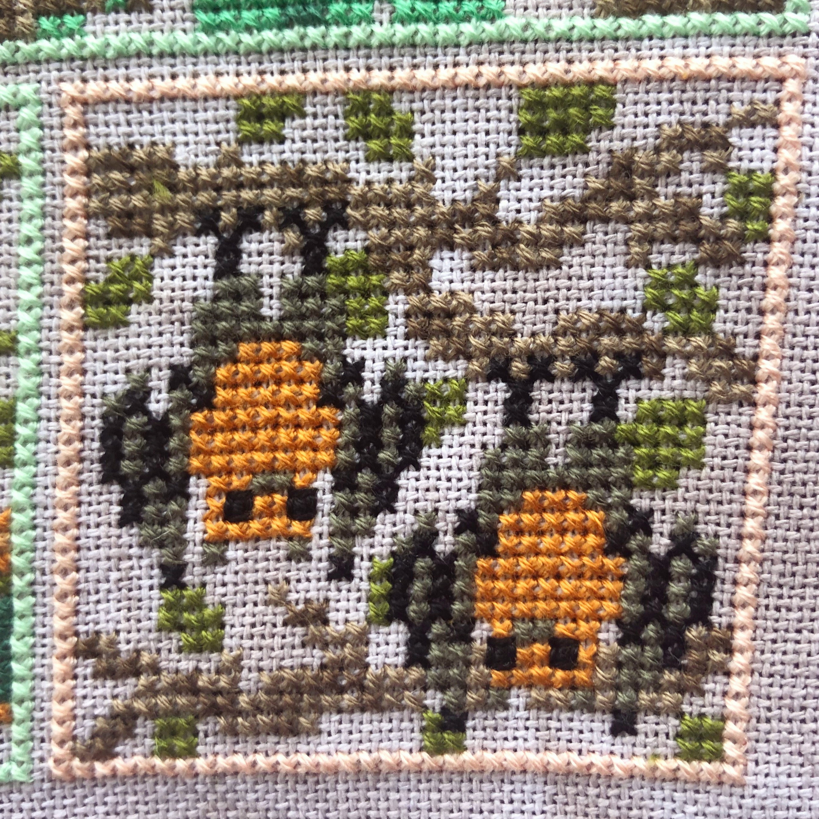 Into the Jungle Cross Stitch: Bats
