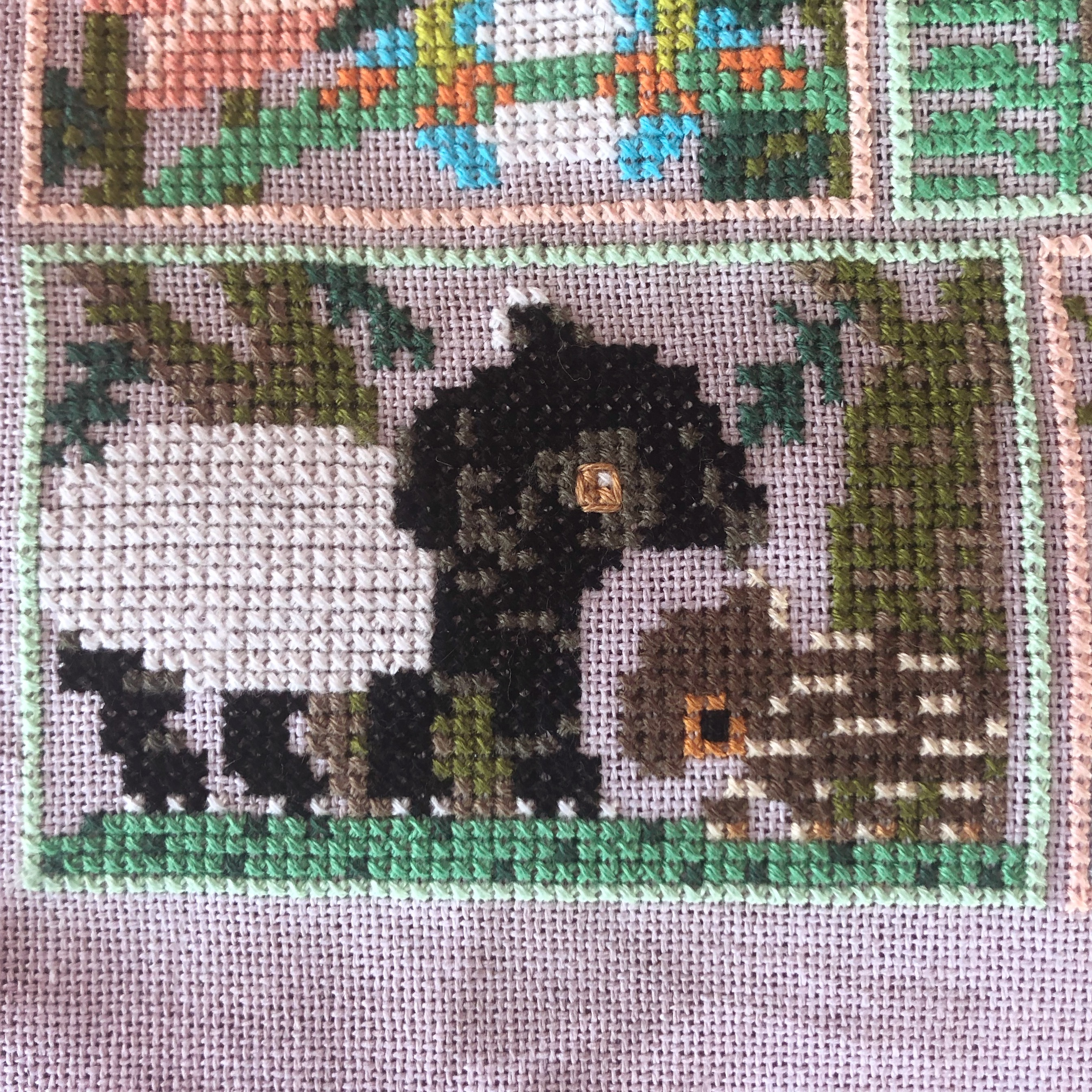 Into the Jungle Cross Stitch: Tapirs