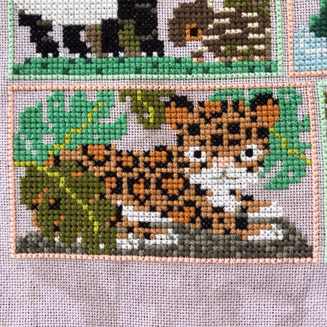 Into the Jungle Cross Stitch: Leopard
