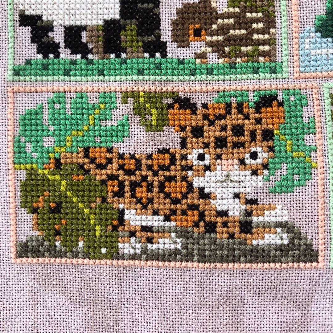 Into the Jungle Cross Stitch: Leopard