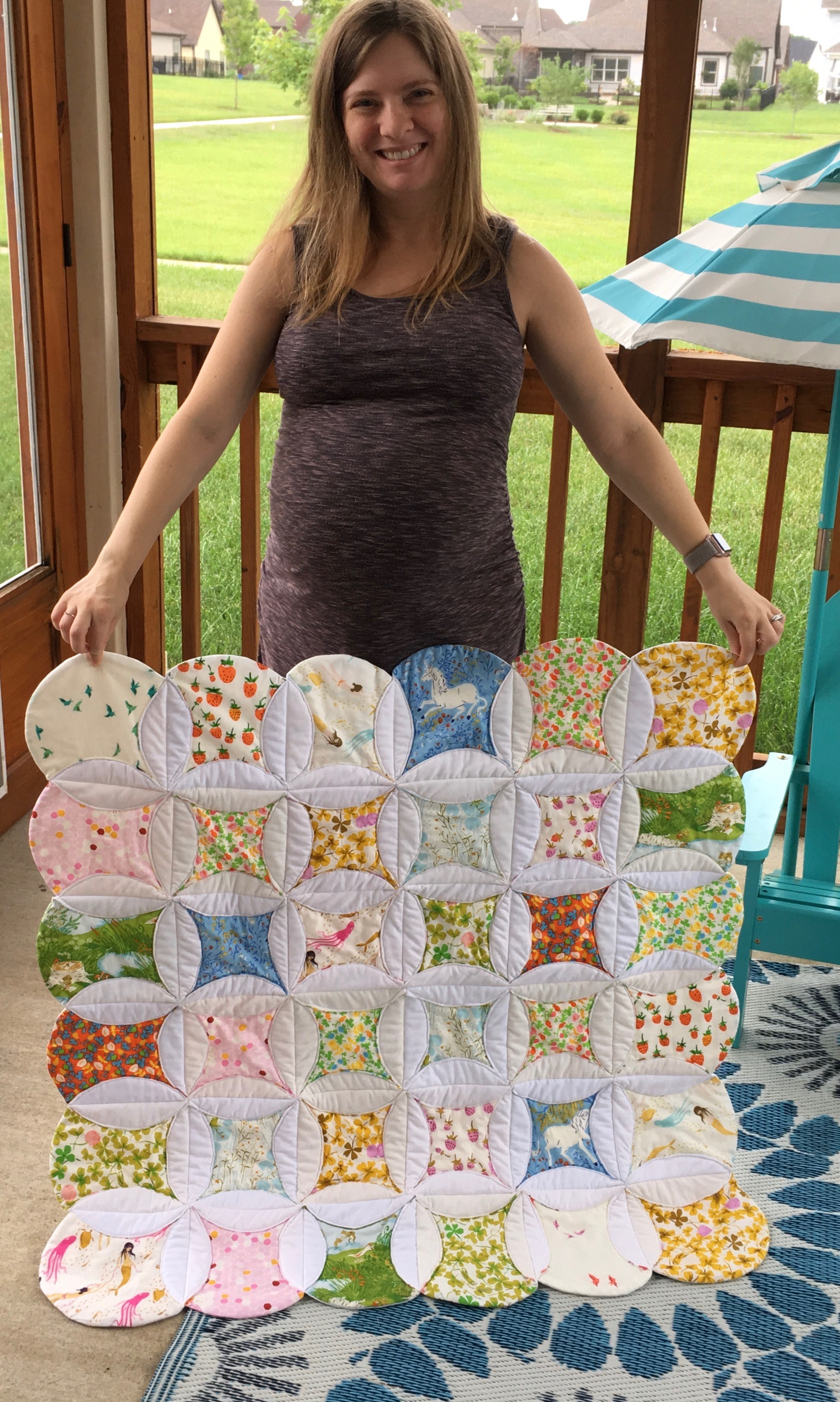 QAYG Cathedral Window Quilt