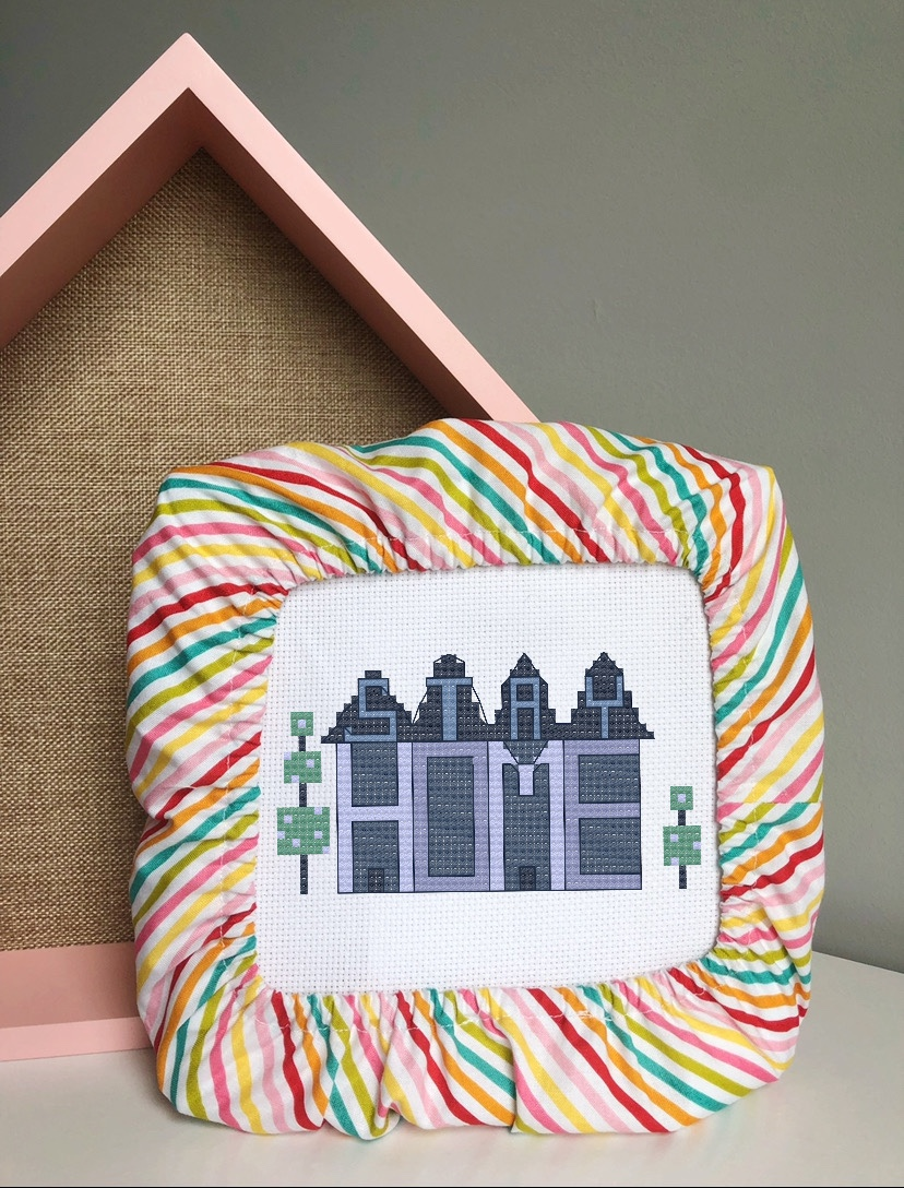 FREE Cross Stitch Pattern: Stay Home